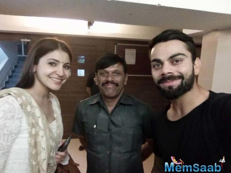 Virat Kohli and Anushka Sharma, who were kept distance from public places for a while, here they both enjoy the ISL match in Goa.