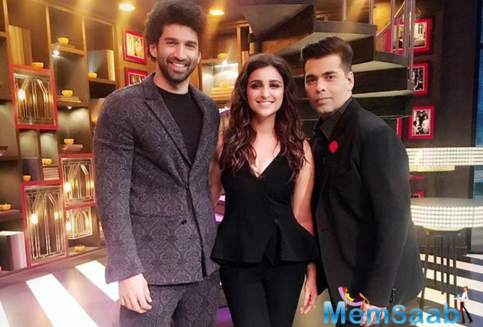 Parineeti Chopra and Aditya Roy Kapur are the next ones to appear on the forthcoming episode of 'Koffee with Karan' for the sixth episode of the fifth season