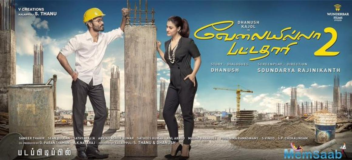 Here is the first look poster of Kajol-Dhanush upcoming film VIP 2