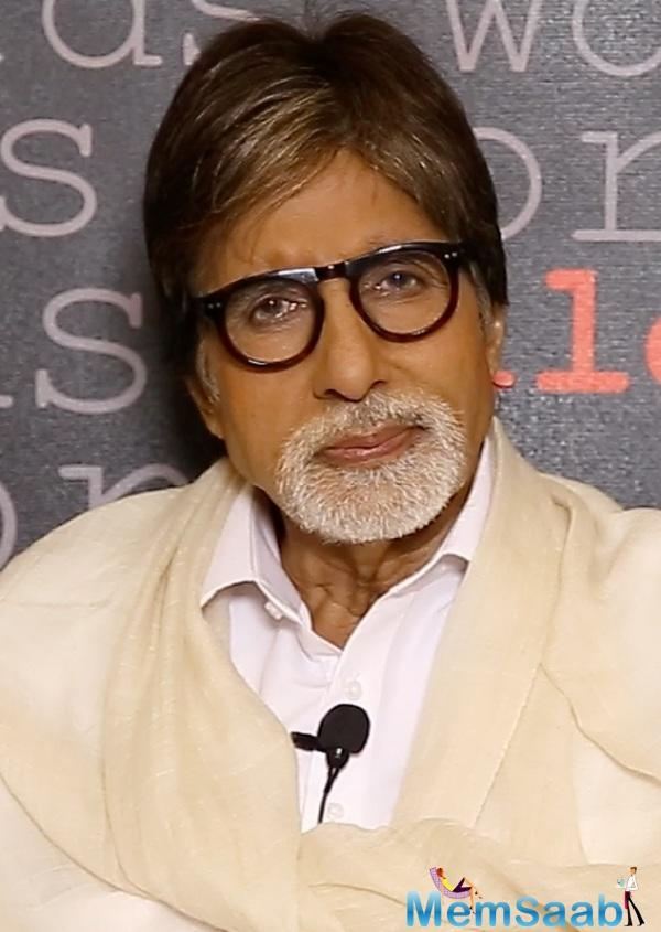 On the other work front, Amitabh Bachchan is currently busy shooting for Thugs Of Hinduston. The film also stars Aamir Khan, Fatima Sana Sheikh in lead roles.