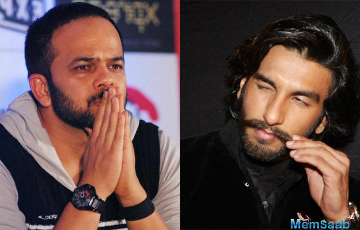 This is the first time the director-actor duo have teamed up for a movie, and Rohit says Ranveer is enthusiastic to run with him.