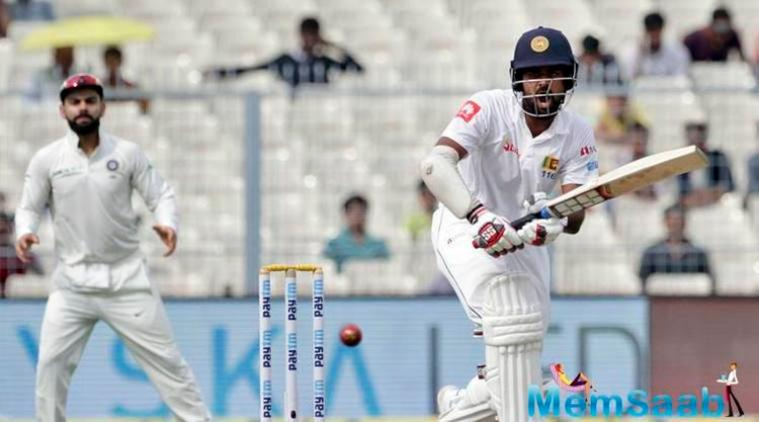 Sri Lanka posted a total of 165-4 on Day 3 of the ongoing first Test against India on Saturday, trailing the hosts by seven runs.