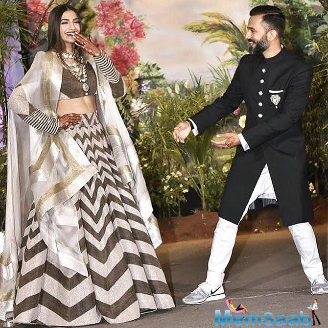 Sonam had earlier revealed that he wore sneakers at the reception to make fun of her and that he didn't even realise he came out wearing them, again proving his love for it.