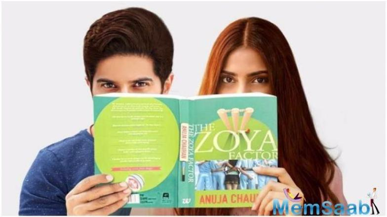 Sonam Kapoor had earlier shared the teaser poster on Twitter. The poster showed Dulquer and Sonam holding and peeking out from behind Anuja Chauhan's novel.