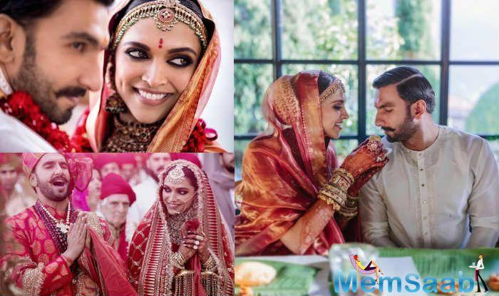 Ranveer  and Deepika have shared new pictures from their wedding ceremonies in Italy. Ranveer-Deepika's dreamy destination wedding was nothing short of a fairly-tale. Take a look at these pictures to believe so.