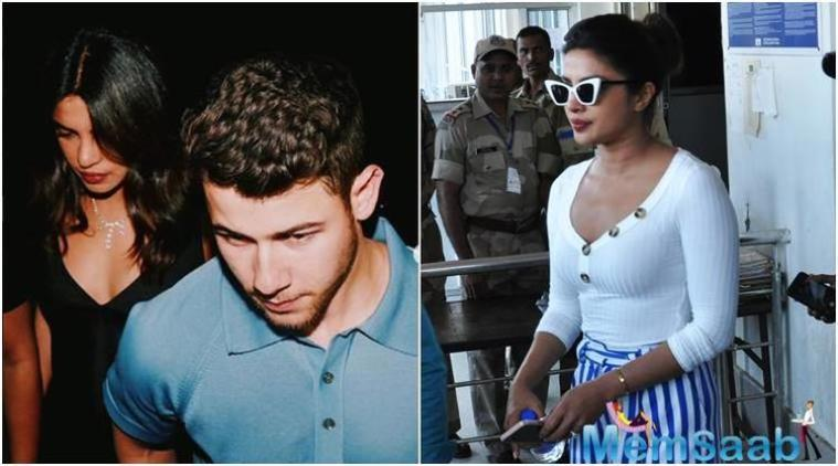 Also spotted at the airport were Priyanka's mom Madhu Chopra and Nick's brother Joe Jonas, who was accompanied by his fiancee and 'Game of Thrones' actor Sophie Turner.