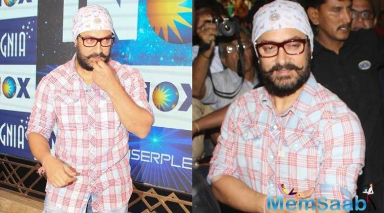 Aamir can be seen sporting a beard. When asked if it is for his look in upcoming projects?