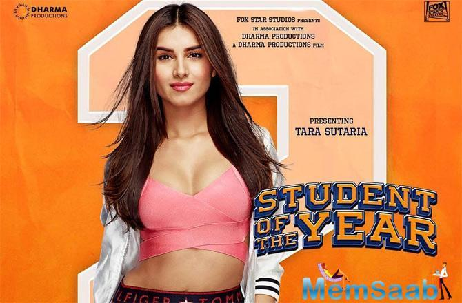 On Thursday morning, Karan Johar shared Tara Sutaria's poster from the film, thus introducing her character from this college-drama.