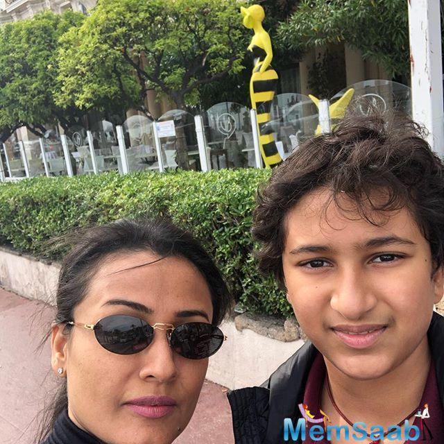 Ahead of Maharshi release, superstar Mahesh Babu is having perfect family time with his wife Namrata Shirodkar, and kids Gautham and Sitara.