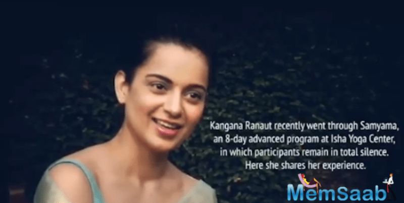 Kangana Ranaut is known for not mincing words and calling out people from the industry. However, the actress was recently spotted away from the limelight at a yoga-camp at Isha Yoga Centre in Coimbatore.
