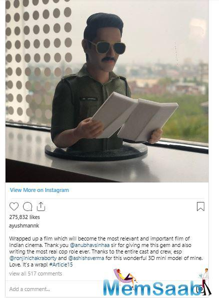 The London Indian Film Festival is set to begin on June 20 and will go on till July 6. Ayushmann will be seen playing the role of a cop in Anubhav Sinha's serious drama Article 15.