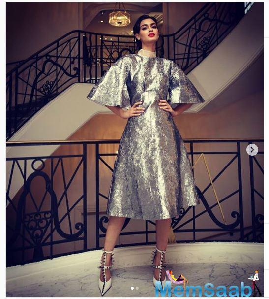 Bollywood diva Diana Penty has bid adieu to the French Riviera in style after having made a fabulous debut on the Cannes 2019 red carpet.