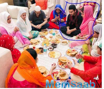 In the photos, Dipika and Shoaib can be seen praying with their family before gorging on scrumptious dishes of the iftari meal.