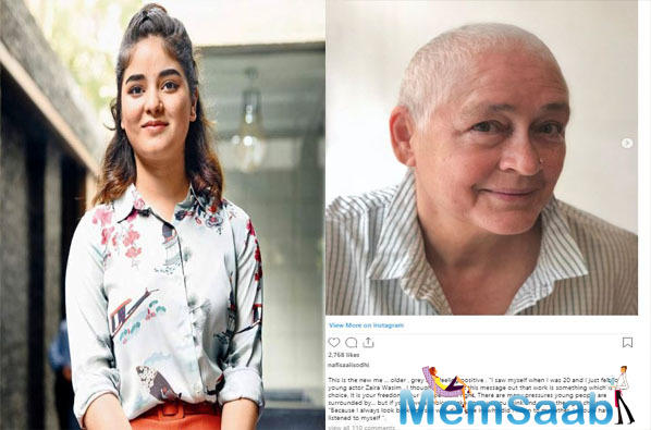 Now, veteran actress Nafisa Ali, who has been diagnosed with stage 3 cancer, has come out in support of Zaira Wasim's decision to quit Bollywood.