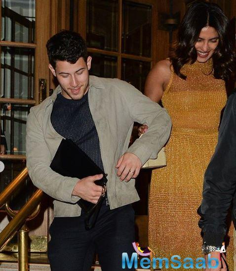 The couple is currently in London and were spotted having a great time together.