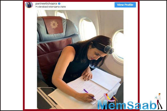 Parineeti Chopra, who has been sweating it out on the badminton court for her upcoming biopic on London Olympics bronze medal winner Saina Nehwal, is also working hard off the court.