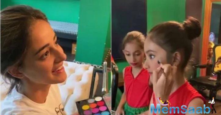 The actress did the makeup of Farah's daughter Diva.