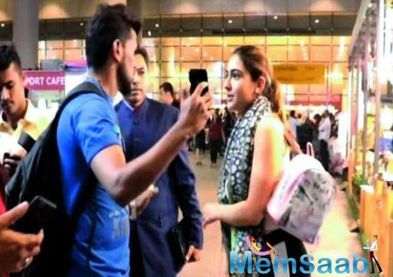 It is tough being a celebrity, which Sara Ali Khan realised the hard way after a man shamelessly tried to hold her at the airport, when she was gracious enough to stand and take a selfie with him.