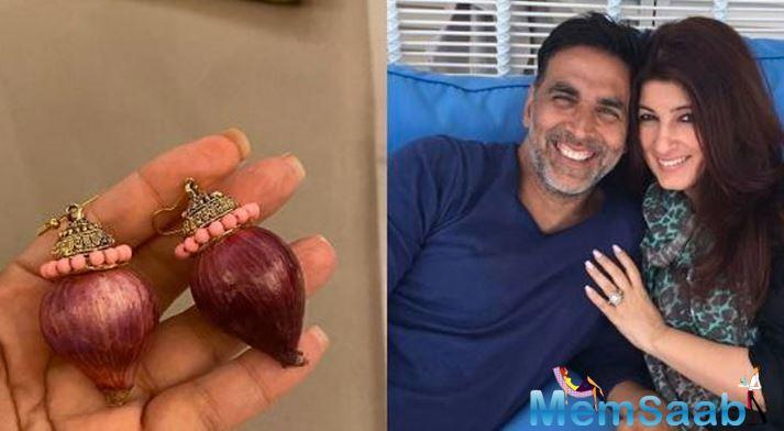 The onion is the vegetable of the season. While in Uttar Pradesh a couple exchanged onion garlands on Friday night, Akshay Kumar's latest gift to his wife Twinkle Khanna – albeit a freebie – has had her in splits.