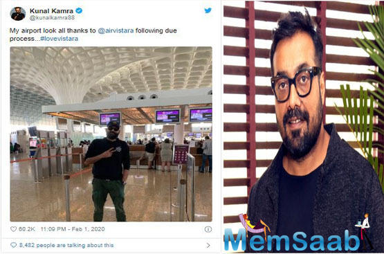 """The filmmaker said, """"I was booked on IndiGo by the organisers to come to Dum Dum... After Kamra was banned, I told the organisers I will not fly IndiGo. I told them I will not fly this airline because I thought the ban was very unreasonable."""""""