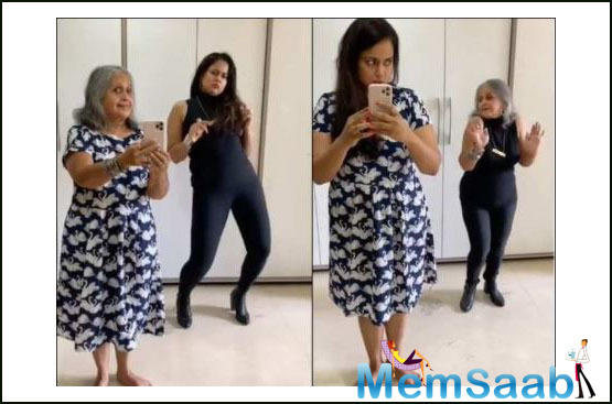 Recently, Sameera posted a video on social media where she can be seen acing the 'flip the switch challenge' with her mother-in-law.