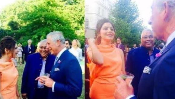 Social media users are sharing her photos with Prince Charles to establish the claim