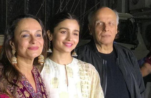 Alia Bhatt visited her parents recently as she lives a few buildings away