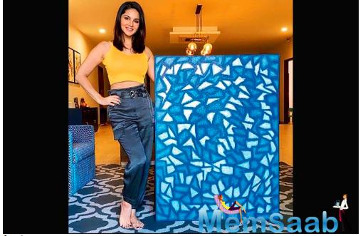 Sunny Leone shares her lockdown piece of art on Instagram