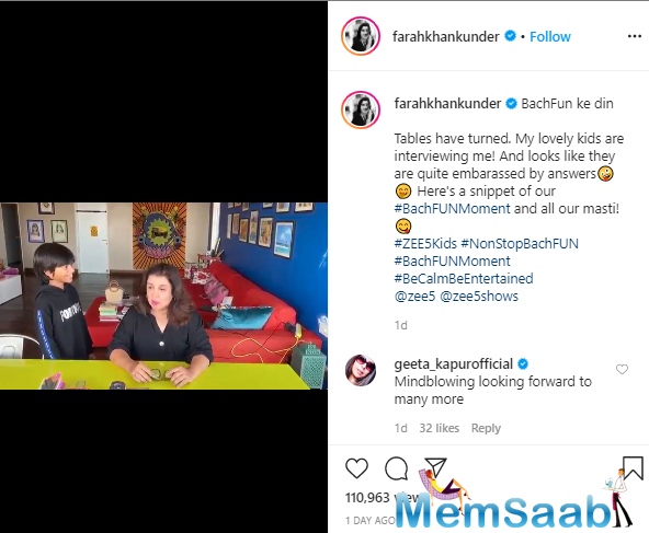 In a recent video that has gone viral on the internet, we can see Farah's kids interviewing her, and its quite fun!