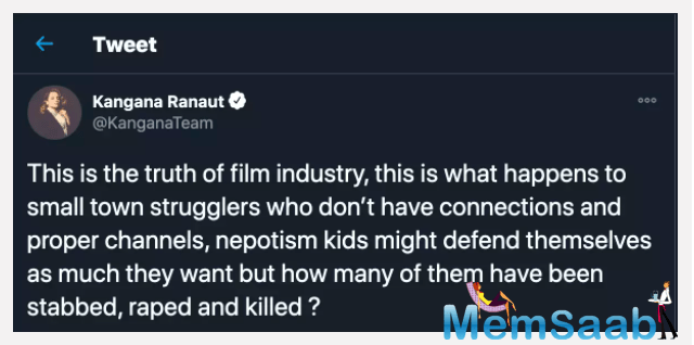 Kangana Ranaut has been making headlines for her strong worded statements since a long time.