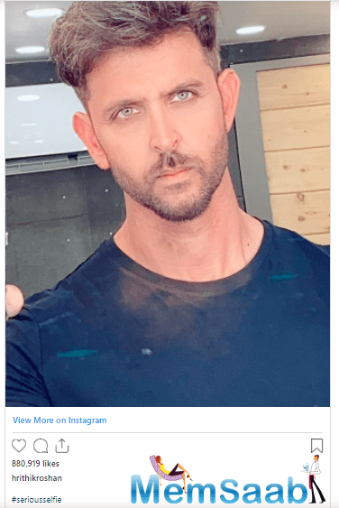 Soon, fans went gaga over Hrithik's picture on Instagram.