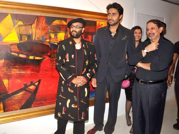 Abhishek Bachchan Was Guest of Honour at Artist Paresh Maity's Art Event