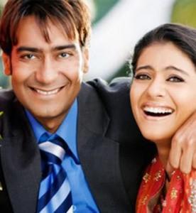Ajay Devgan and Kajol Smile Face Pic