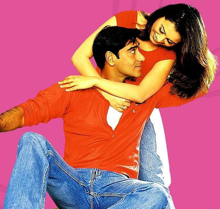 Ajay Devgan and Rani Red Dress Still