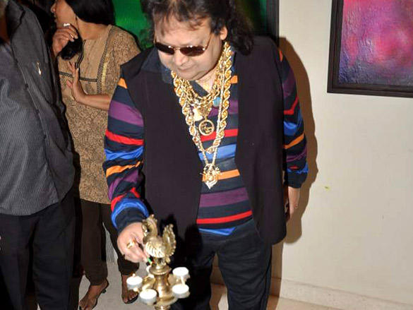 Bappi Lahiri at Amisha Mehta's art preview