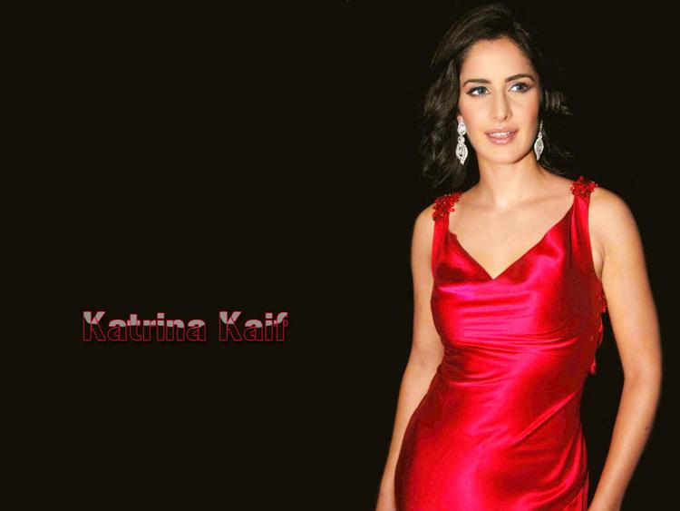 Katrina Kaif Red Dress Gorgeous Wallpaper