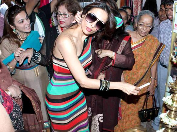 Malaika Arora Khan Goes Colourful at Charity Event