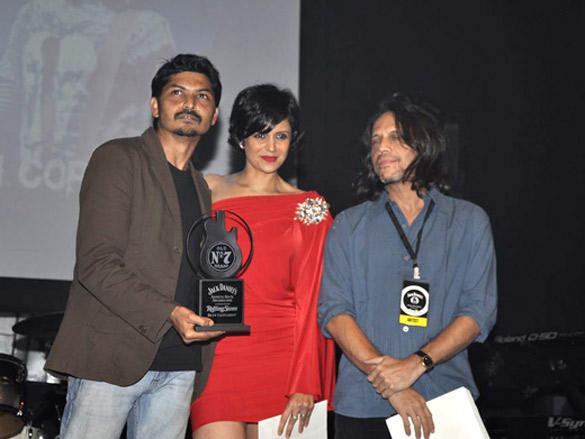 Mandira Bedi at Jack Daniels Rock Awards 2012