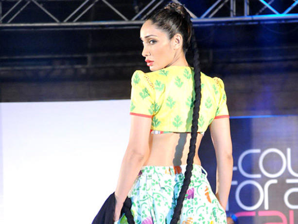 Model Walk Ramp at the Couture for Cause Fashion Show in ITC Maratha