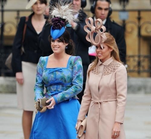 Princess Eugenie and Princess Beatrice of York