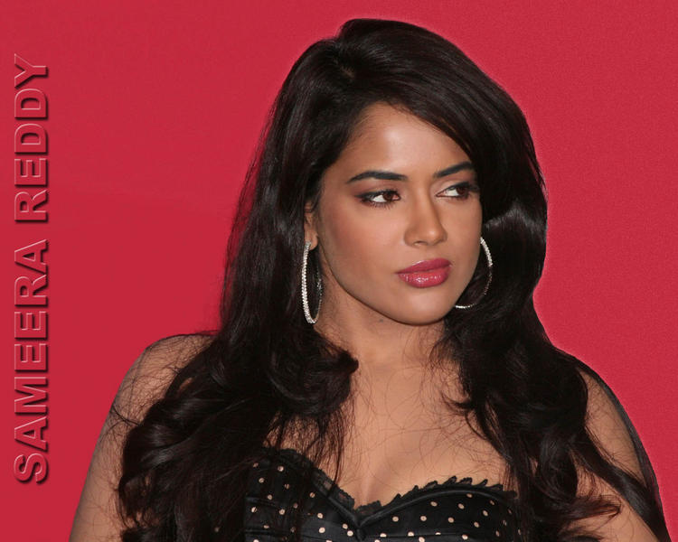 Sameera Reddy Glamour Face Look Wallpaper
