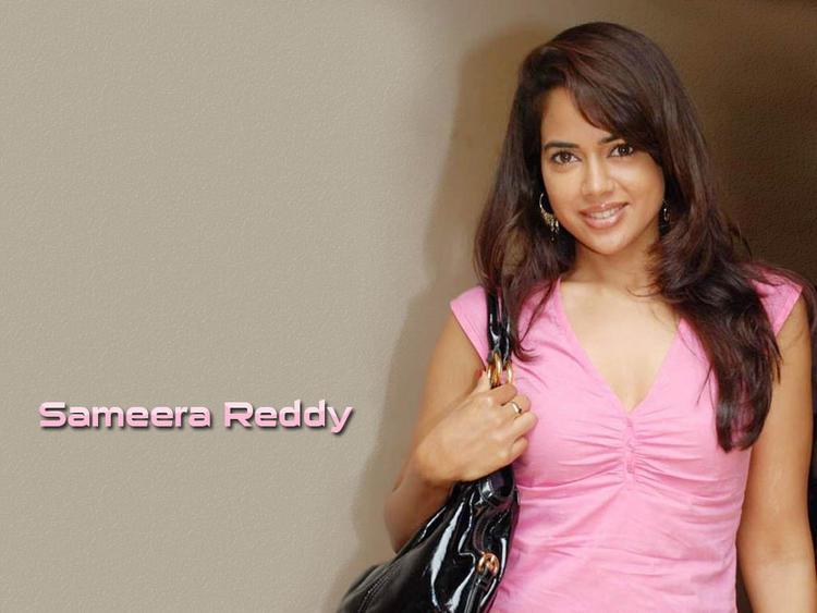 Sameera Reddy Pink Dress Sweet Cool Wallpaper