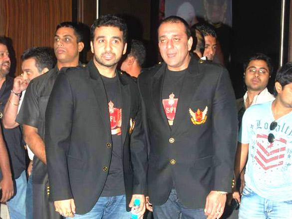 Sanjay Dutt and Businessman Raj Kundra at Super Fight League
