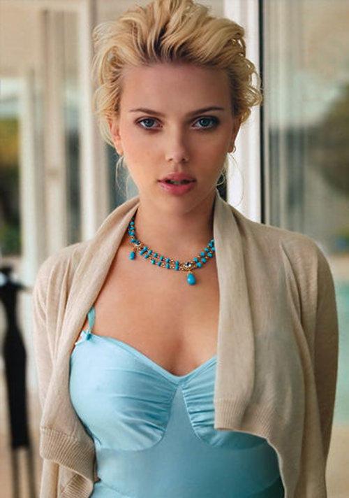 Scarlett Johansson Hair Style Cute Makeup Hot Still