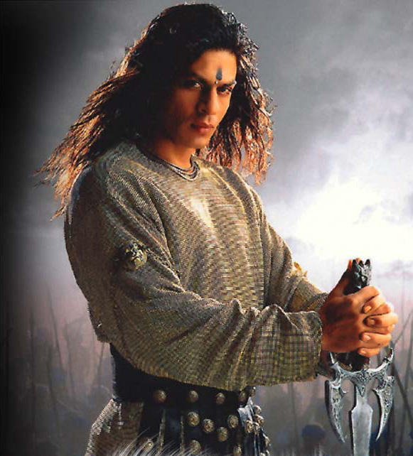 Shahrukh Khan Long Hair Style Angry Look Wallpaper