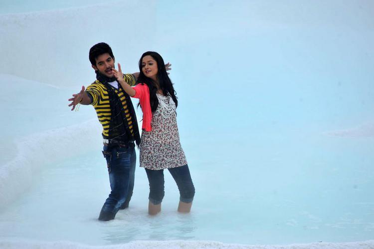 Shanvi and Aadi Lovely Cinema lovely pics