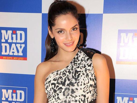 Shazahn Padamsee Gorgeous Still at Launch of Mid-Day Mumbai Anthem