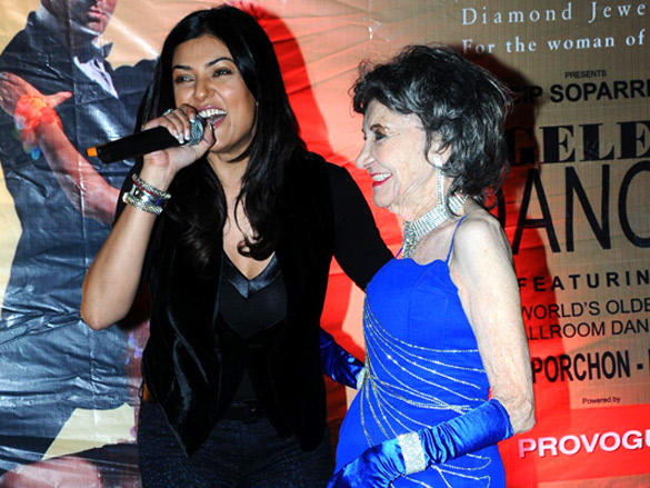 Sushmita Sen And Tao porchon lynch at Ageless  Dance show by Sandip Soparrkar