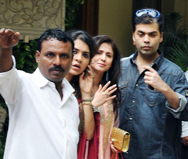 Karan Johar And Urmila Matondkar At Aish Baby Shower