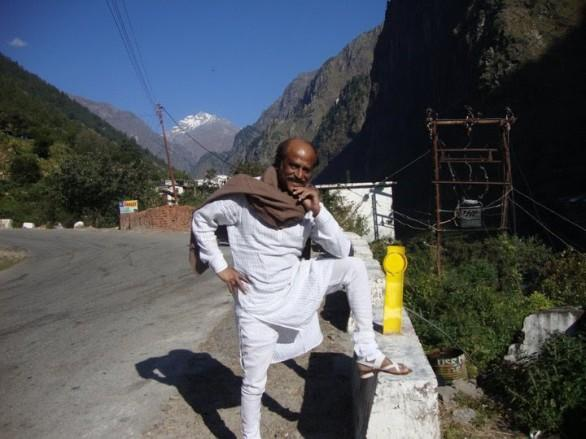 Super star rajinikanth at himalaya